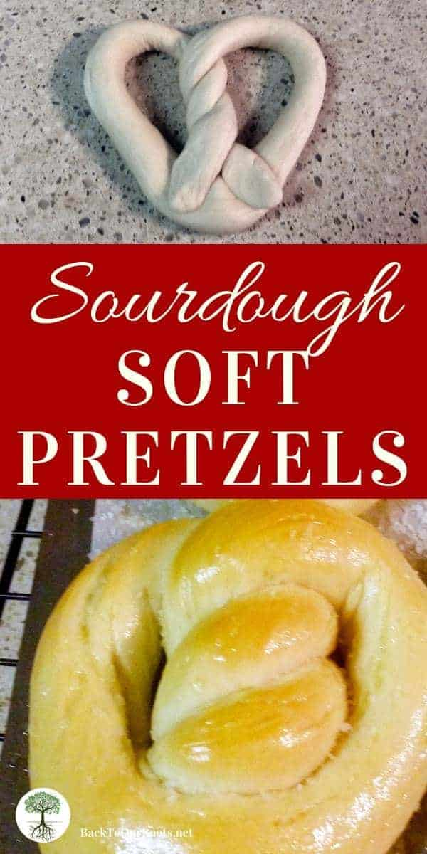 Soft & Chewy Sourdough Pretzels