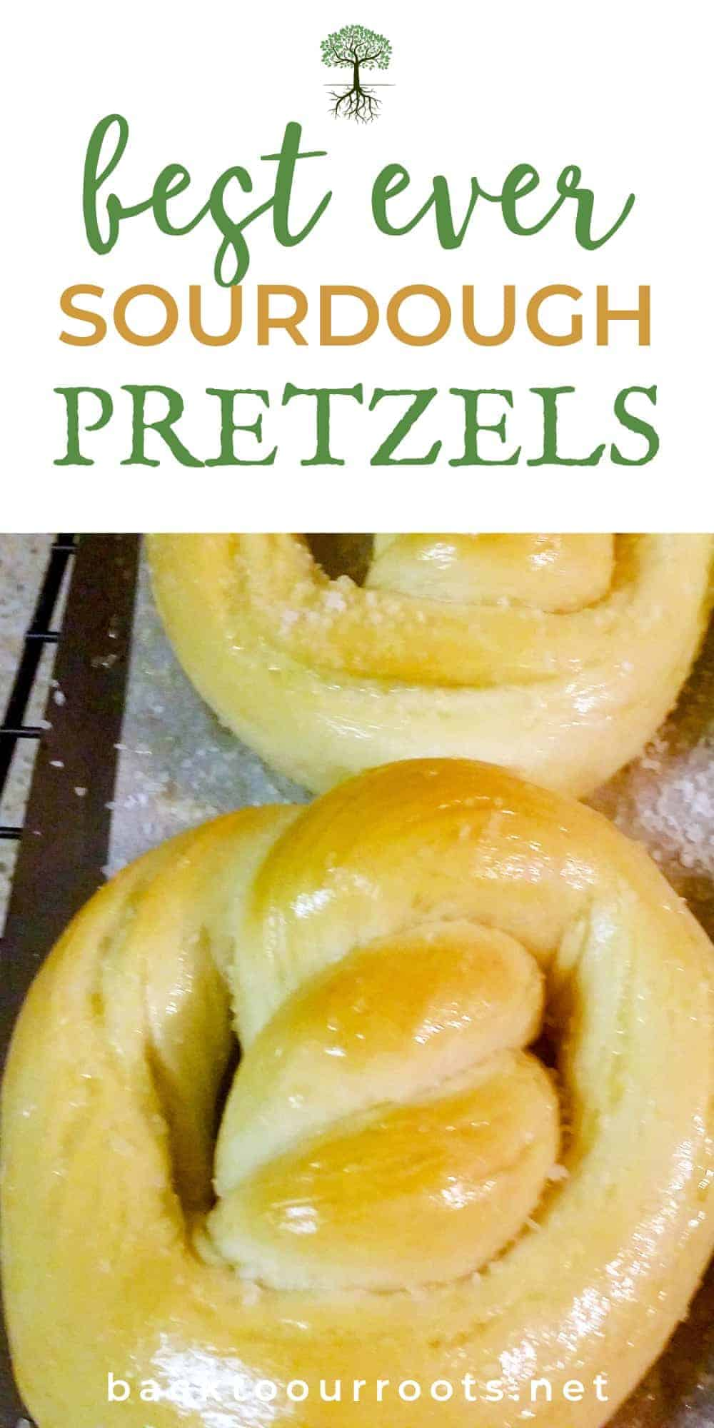 Soft & Chewy Baked Sourdough Pretzels