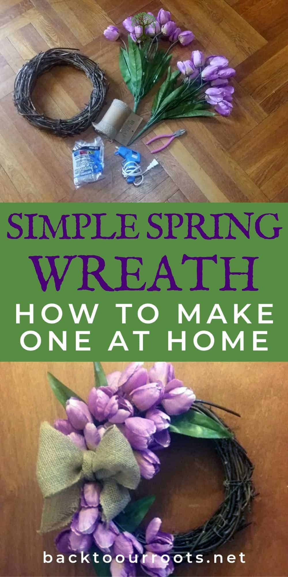 Fast & Easy Spring Tulip Wreath