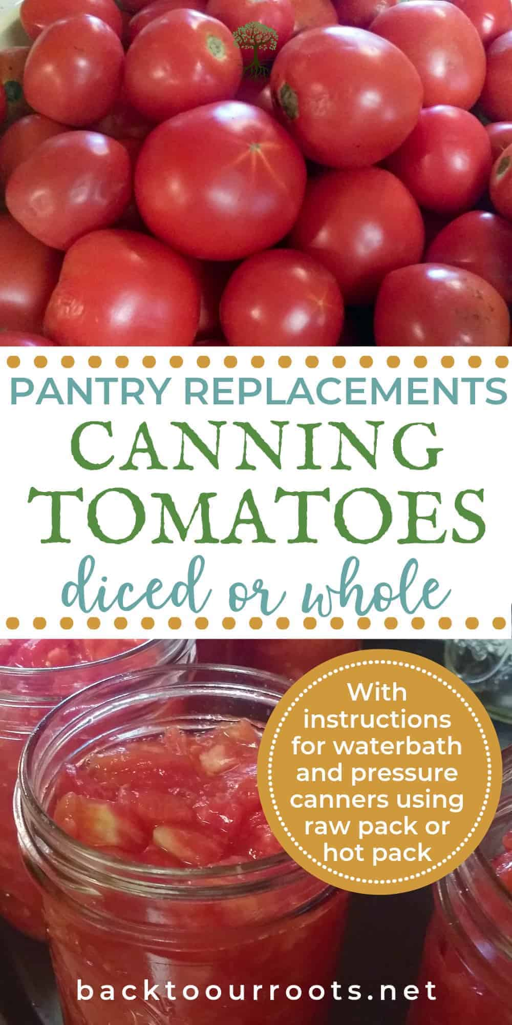 How to Can Tomatoes ~ Diced or Whole