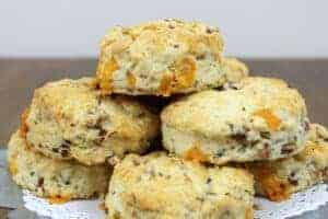 Sourdough Ham & Cheese Scones {For Discard Starter}