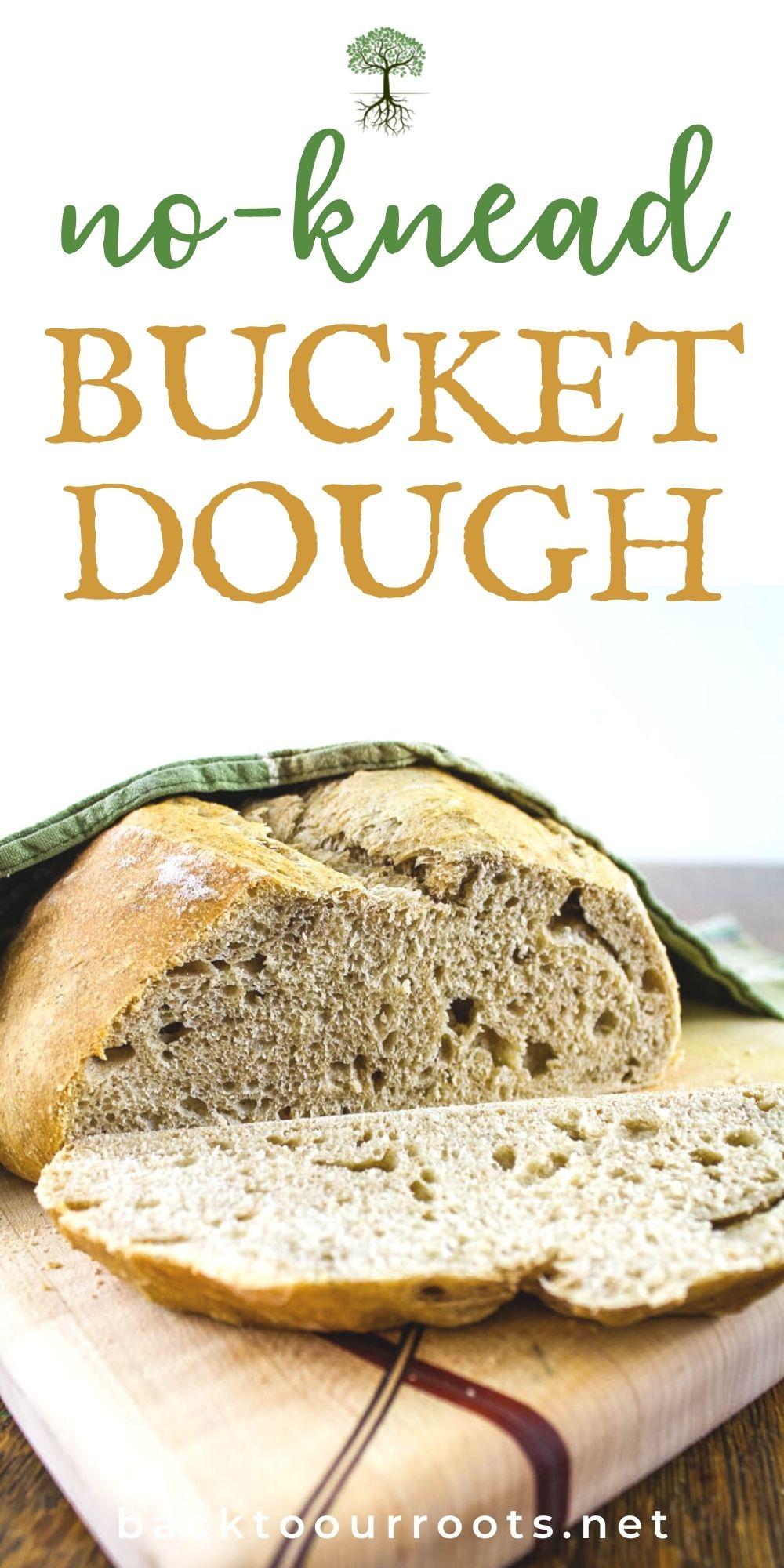 no knead bucket dough