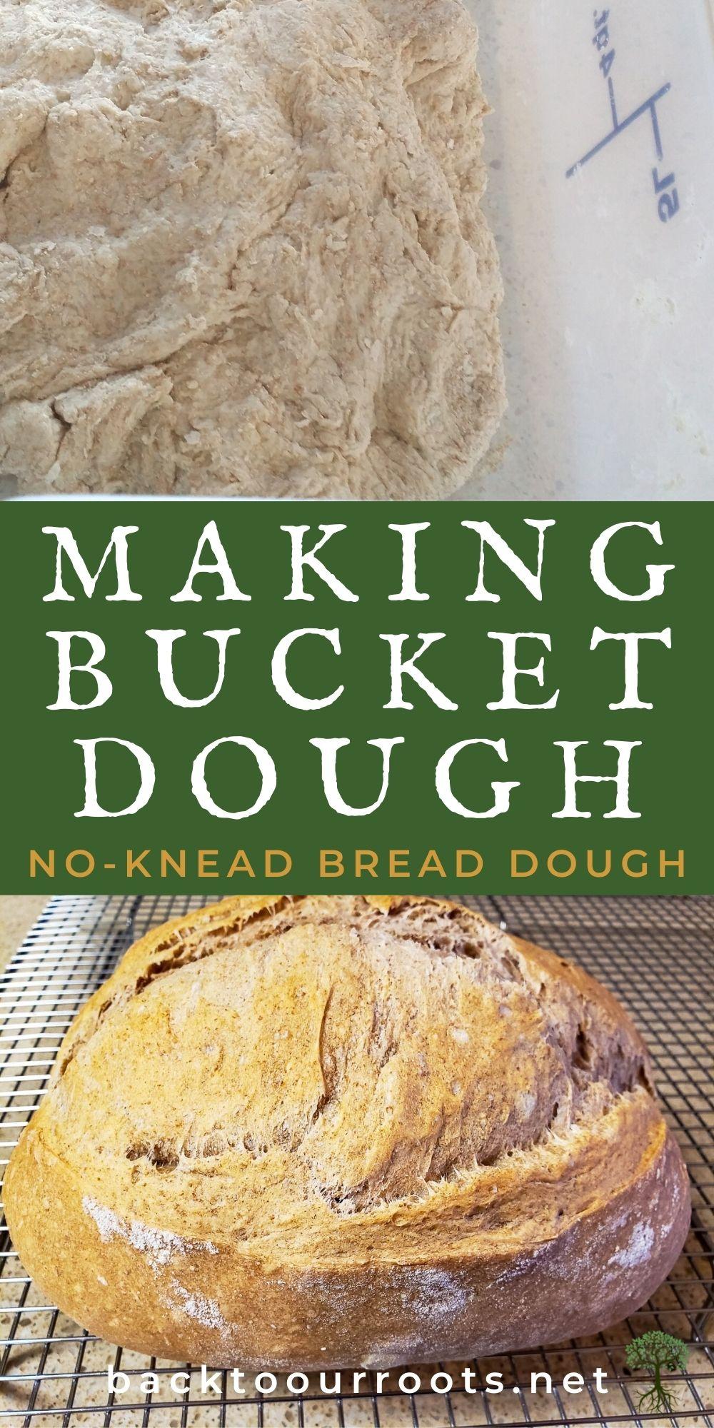 No-knead bucket dough