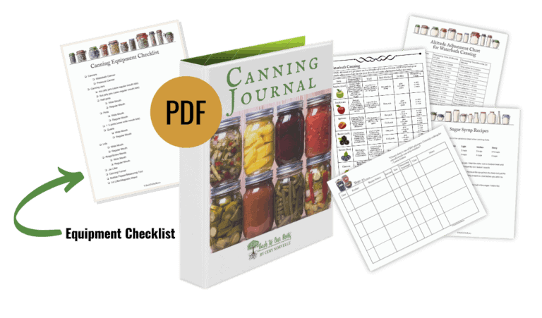 contents of canning journal