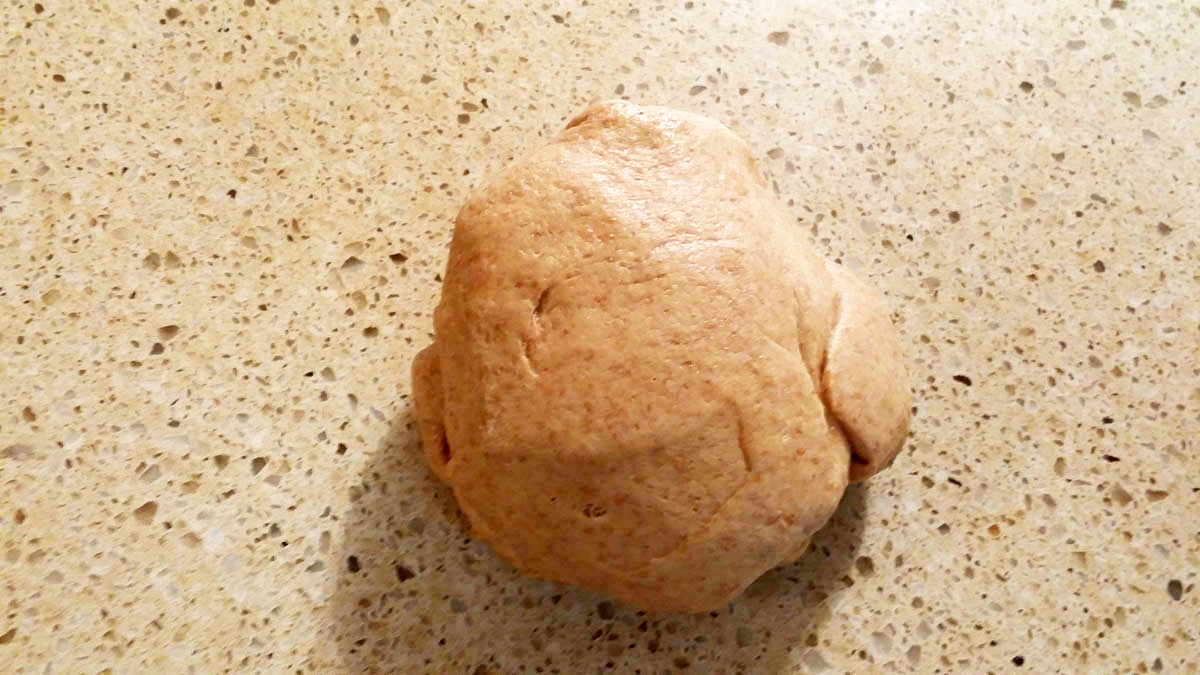 honey whole wheat bread dough ball
