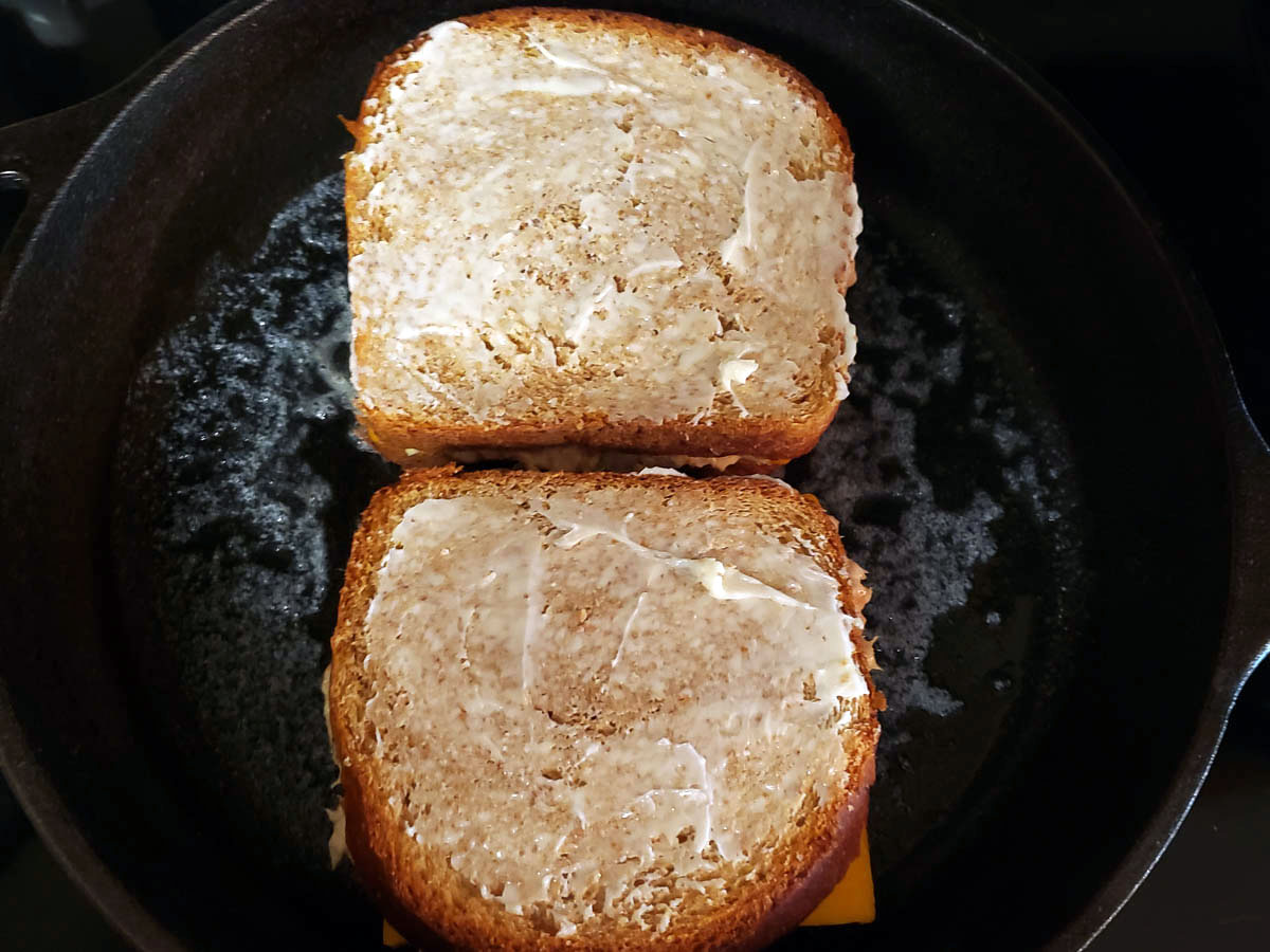 Tune Melt Sandwiches in buttered frying pan